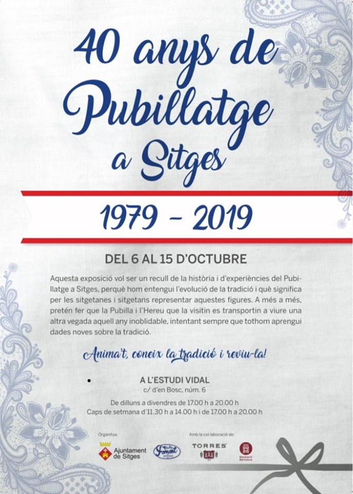 40 anys de pubillatge a Sitges 1979-2019