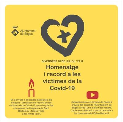 Homenatge i record a les víctimes de la Covid-19