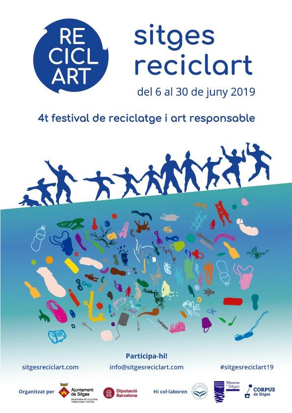 Taller col·lectiu 'Art amb reciclatge-Junts per un món millor' / Festival Sitges ReciclArt 2019