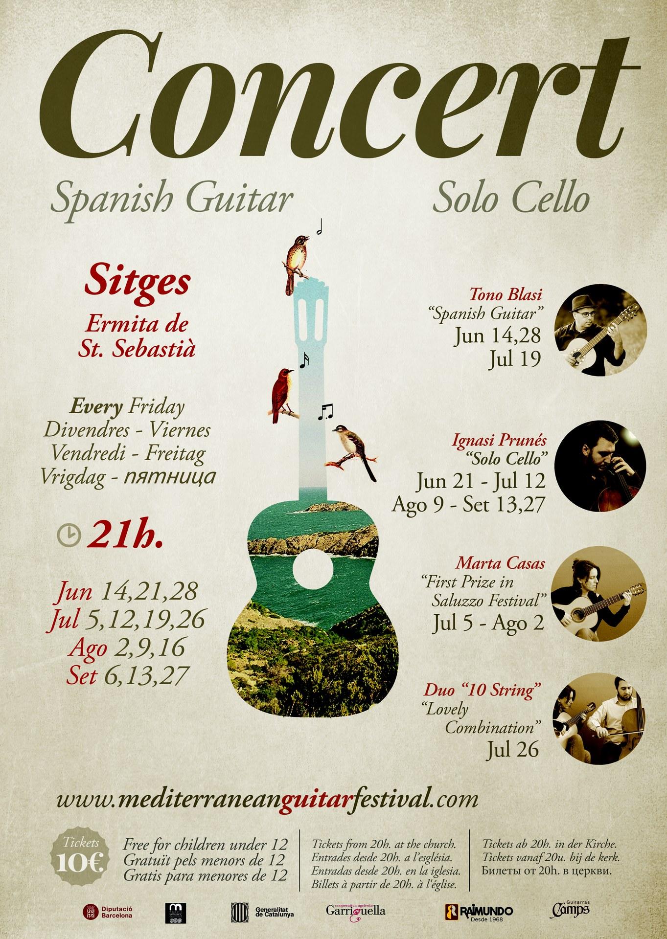 El Festival de Guitarra del Mediterrani arriba a Sitges per oferir concerts a l'ermita de Sant Sebastià