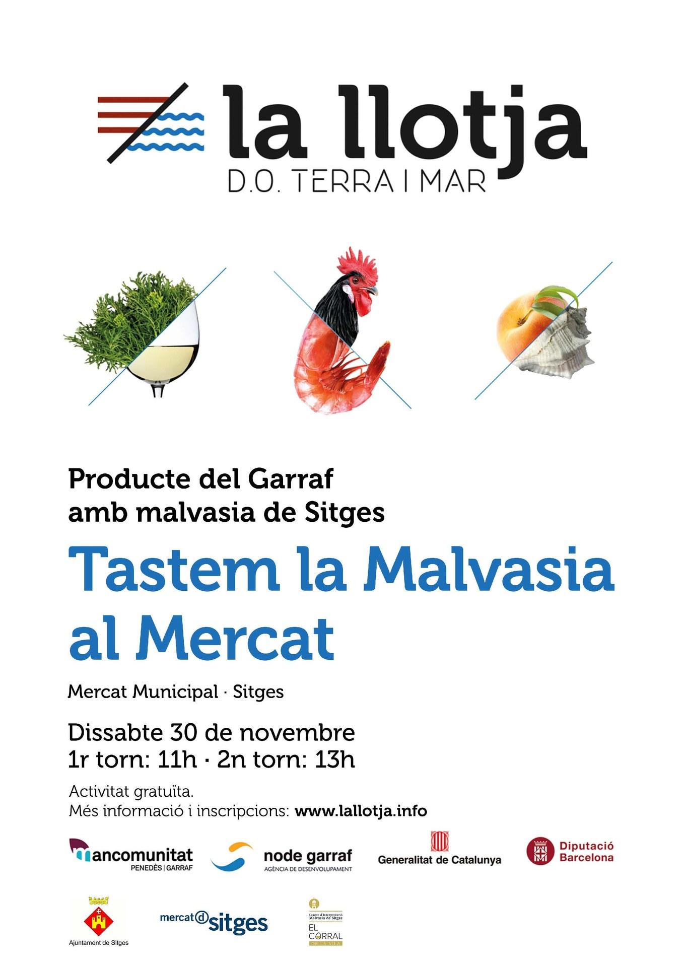 L'Associació de Paradistes del Mercat Municipal organitza dissabte un tast de Malvasia de Sitges