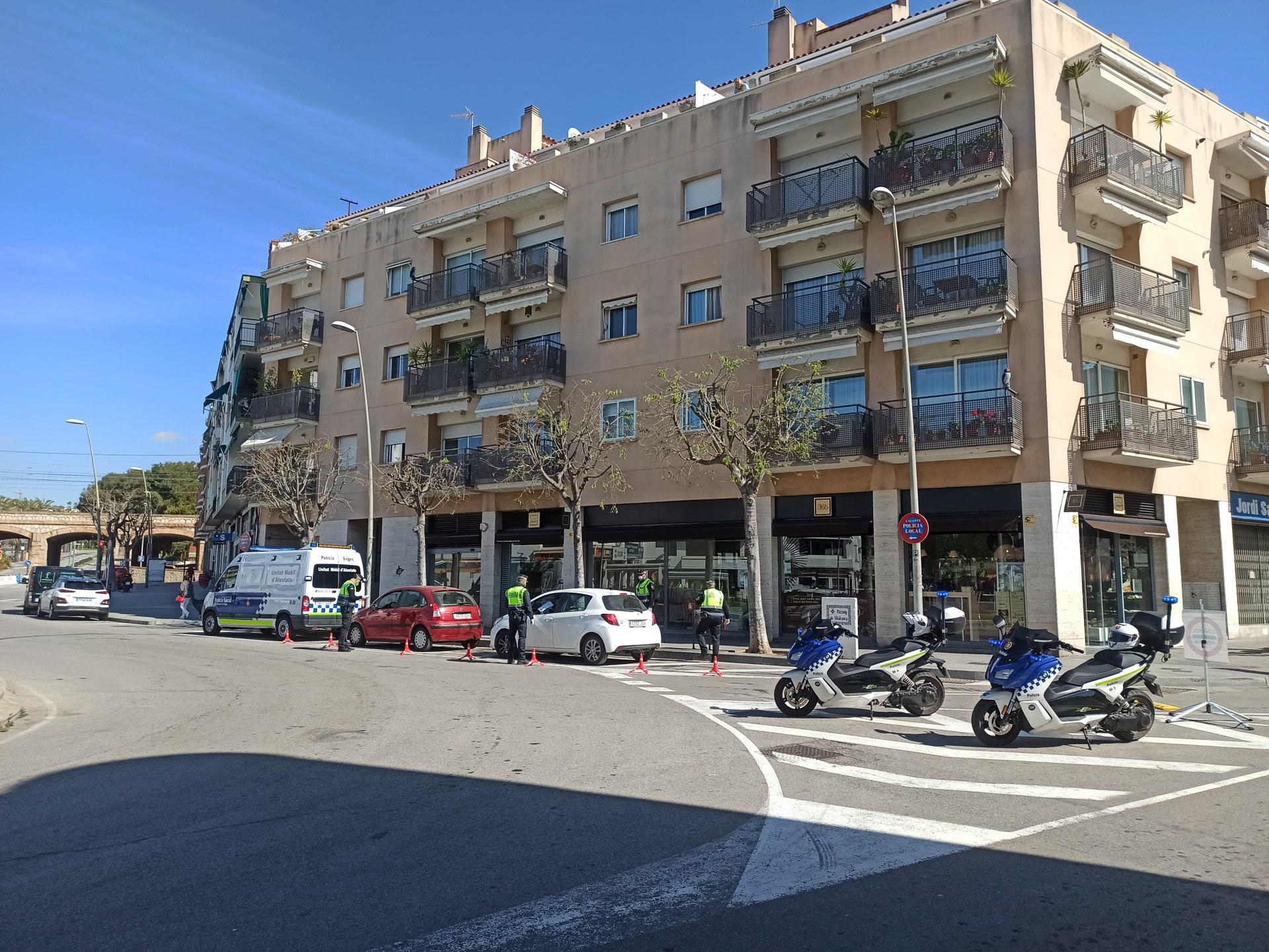 La Policia Local intensifica els controls a Sitges per evitar l'incompliment de l'estat d'alarma