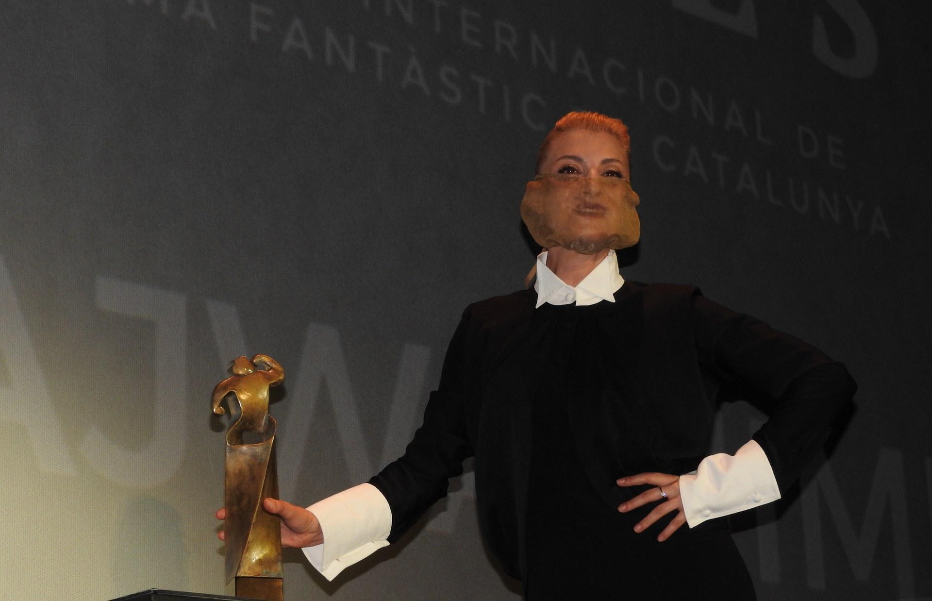 Najwa Nimri captiva el públic de Sitges recollint el Gran Premi Honorífic a la seva carrera