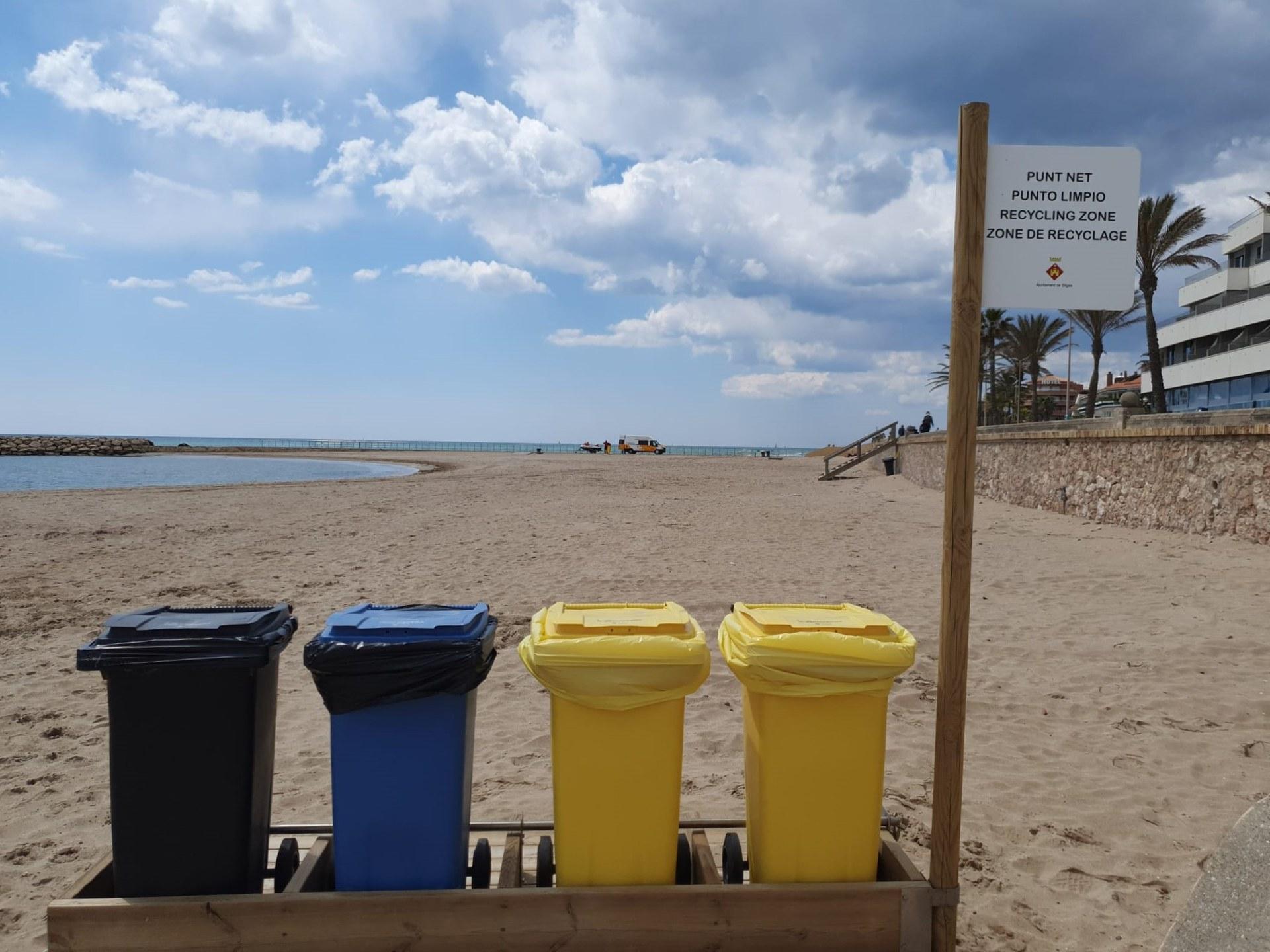 Un dels punts nets que hi ha a les platges de Sitges