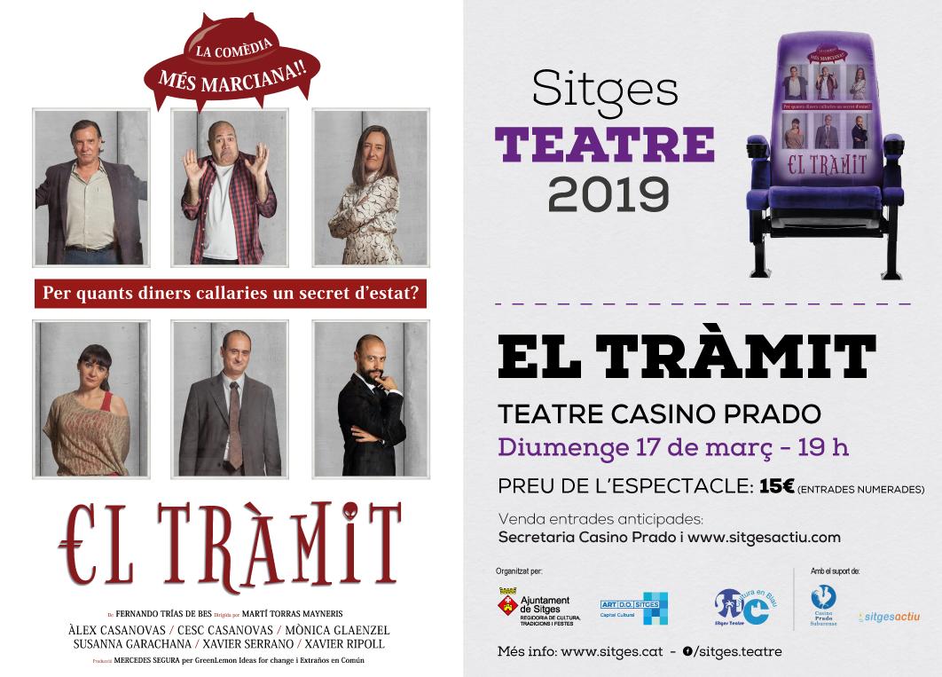 Cartell de l'obra de teatre 'Tràmit'