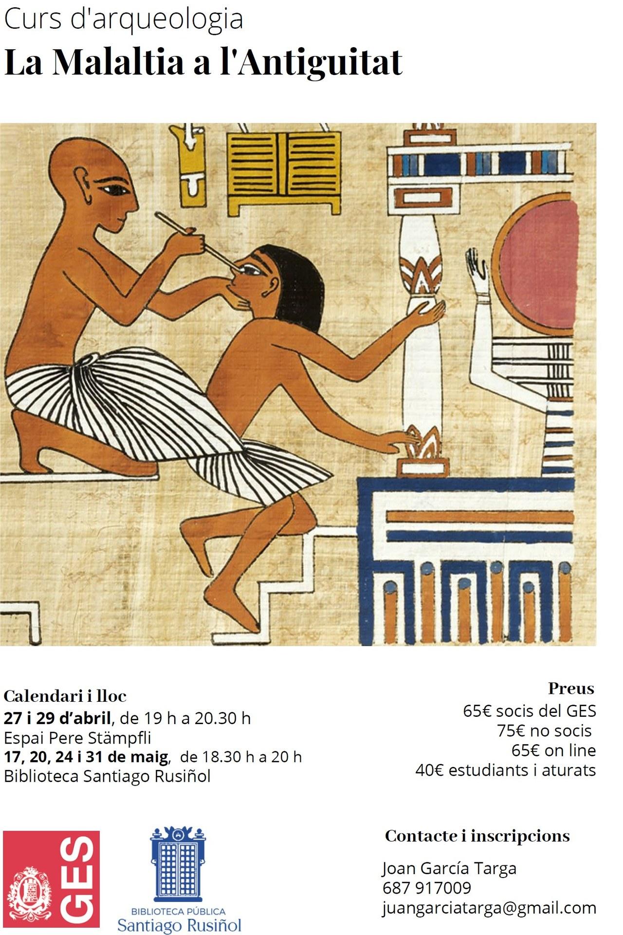 Curs d'Arqueologia 'La Malaltia a l'Antiguitat'
