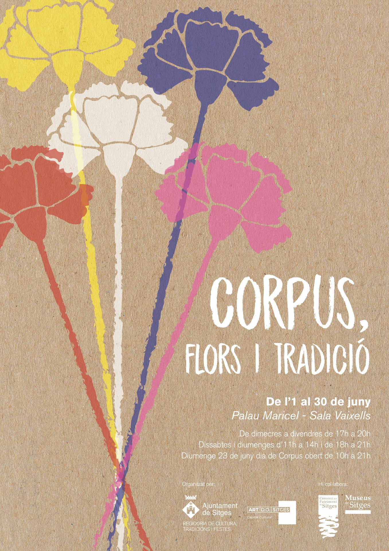 Cartell de l'exposició 'Corpus, Flors i Tradició'