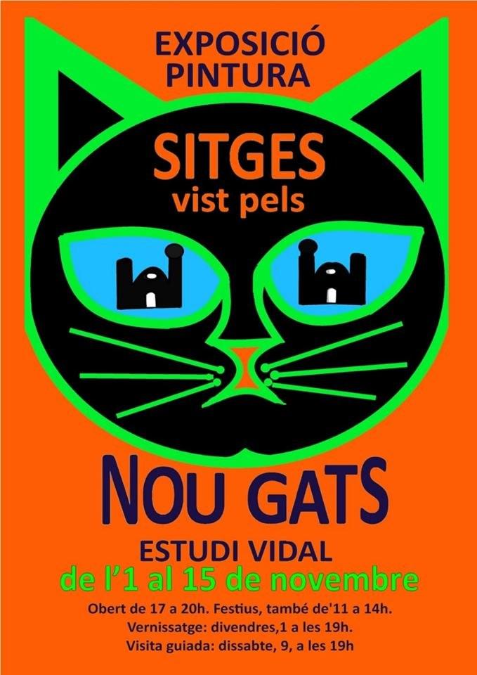 """Exposició """"Sitges vist pels nou gats"""""""