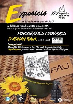 Inauguració de l'exposició de fotografies i dibuixos d'Adnan Raw / XIV Jornades Solidàries de Sitges