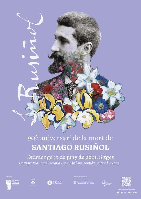 Ofrena floral 90è aniversari de la mort de Santiago Rusiñol