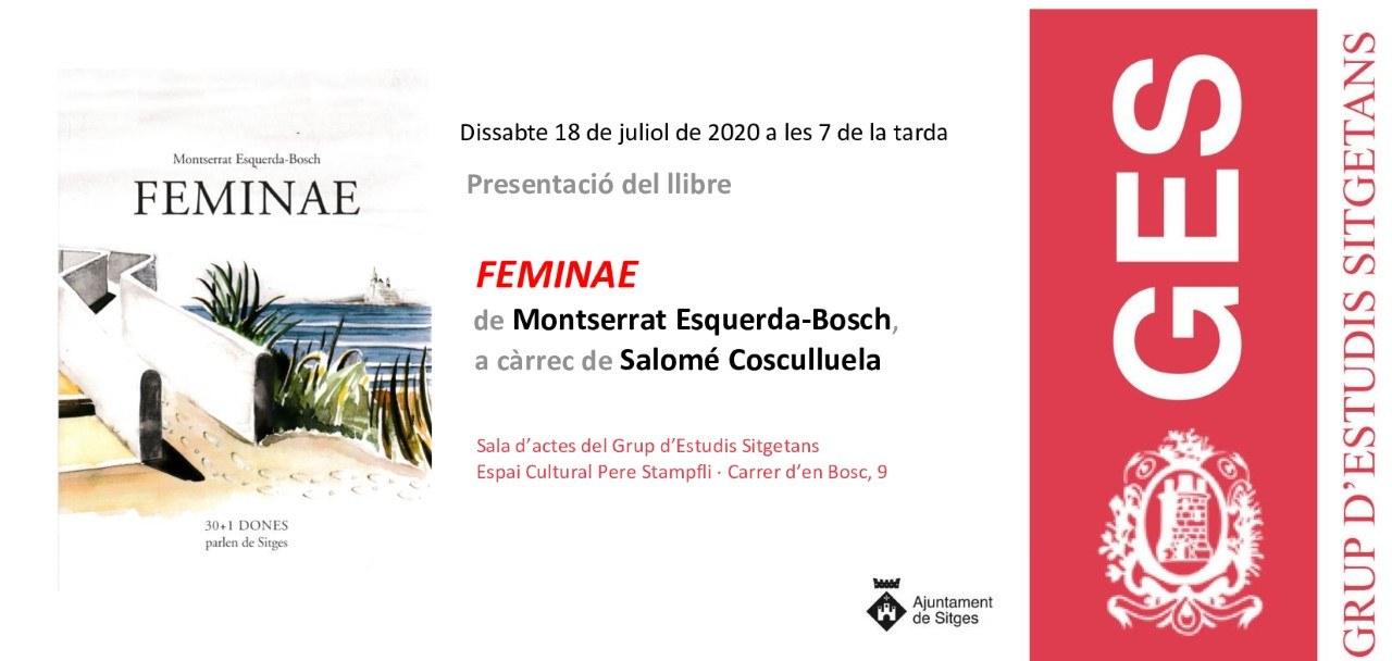 Presentació del llibre Feminae de Montserrat Esquerda