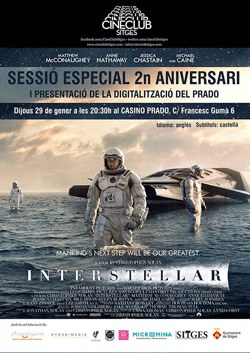 Sessió especial amb Interstellar (V.O.S.E)