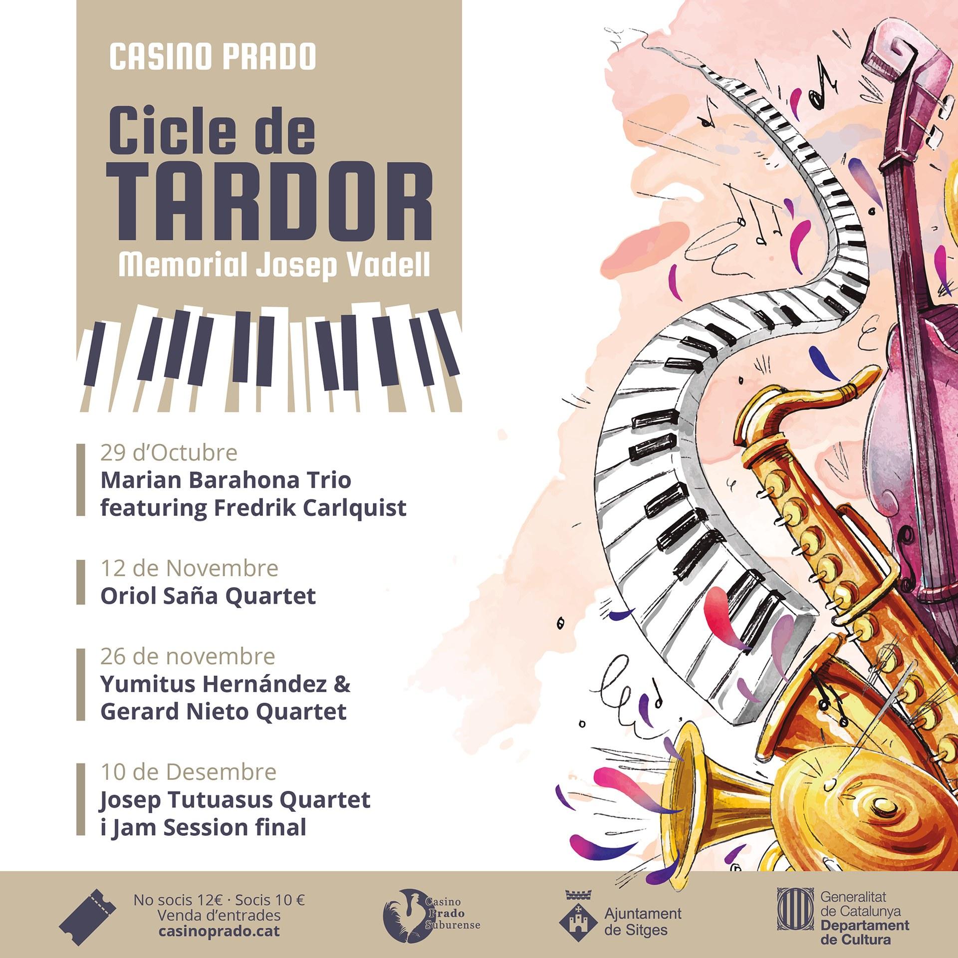 El Casino Prado estrenarà a la tardor un cicle de concerts en homenatge a Josep Vadell