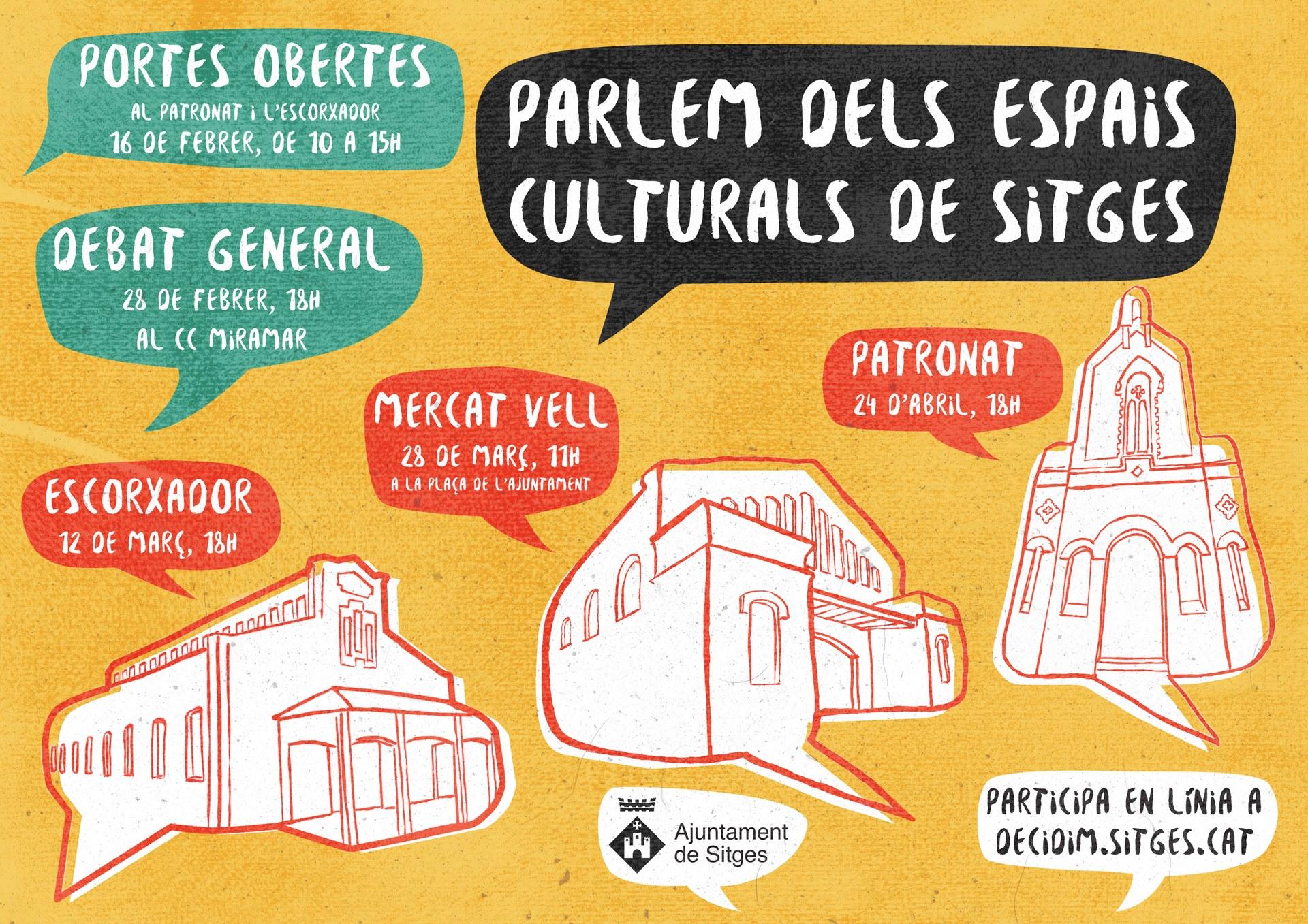 L'Ajuntament de Sitges iniciarà un procés participatiu per definir l'ús de tres espais culturals de Sitges: l'Escorxador, el Mercat Vell i el Patronat
