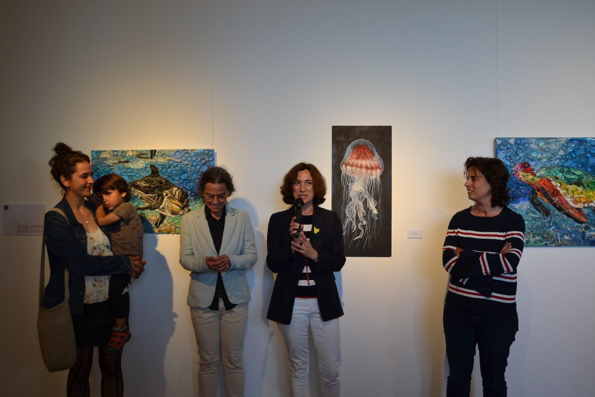 La inauguració de l'exposició col·lectiva d'art responsable dona el tret de sortida al Festival Sitges ReciclArt 2019