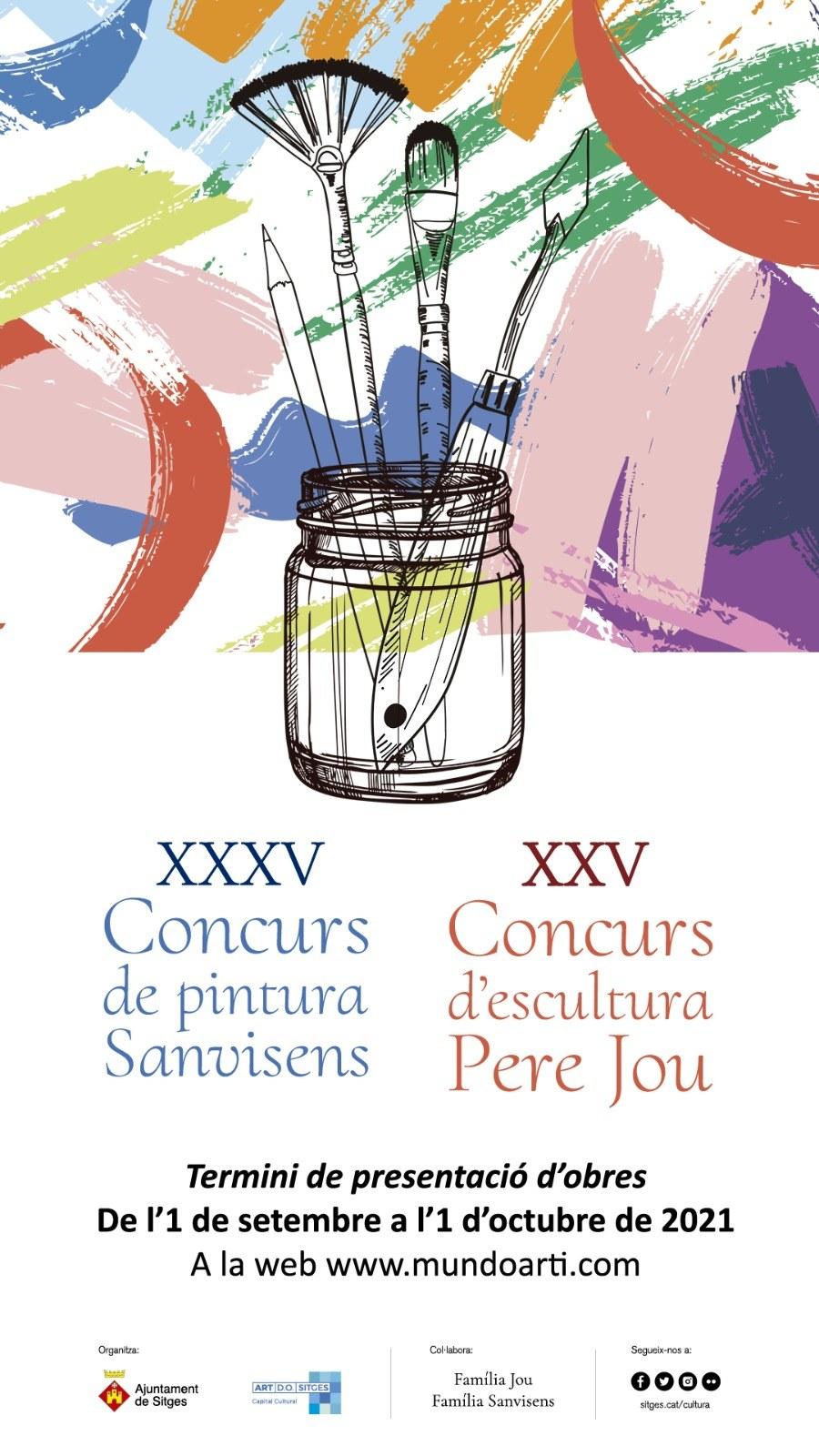 S'obre el termini per presentar les obres alXXXV Concurs de Pintura Sanvisens i XXV d'escultura Pere Jou