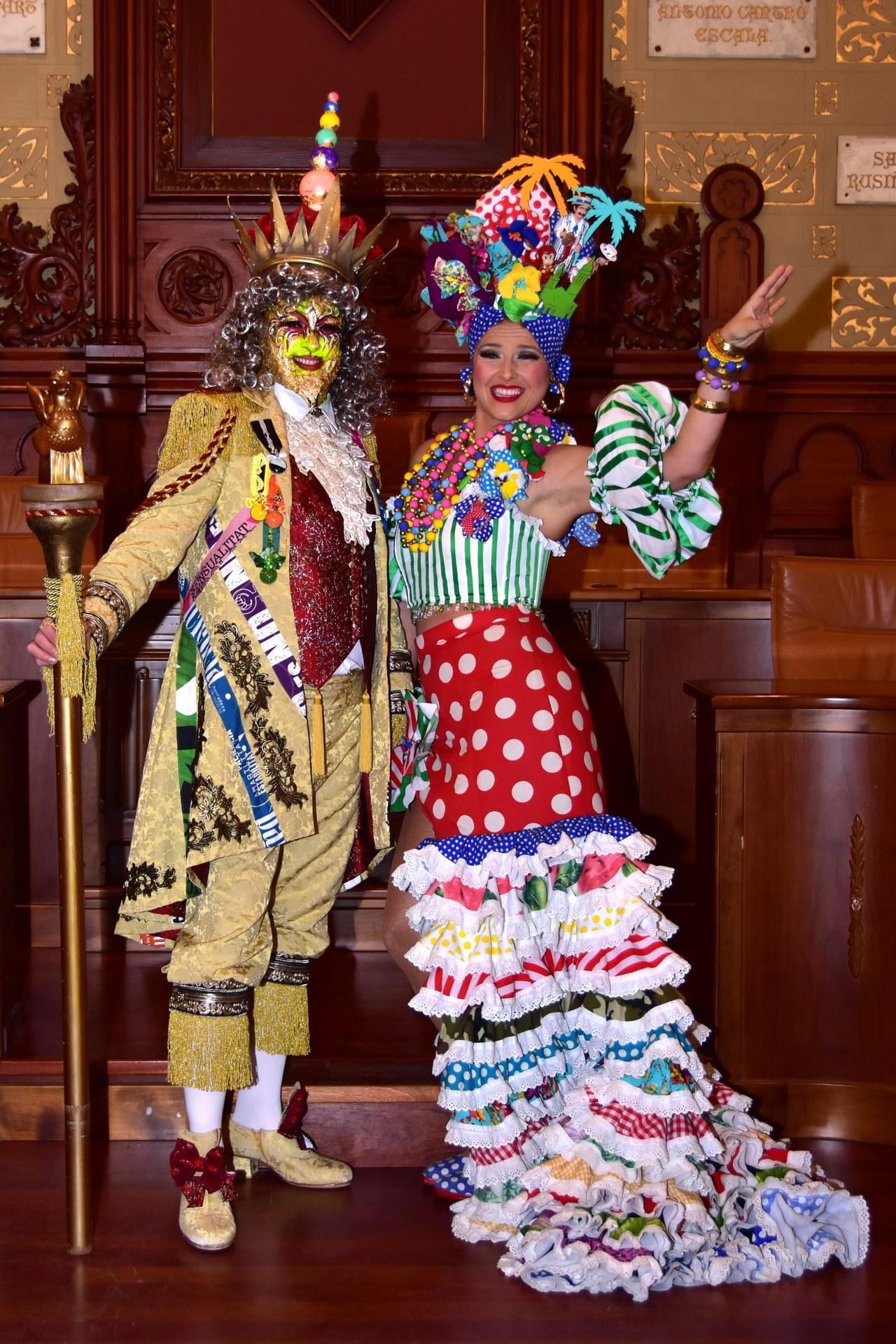 Sa Majestat Carnestoltes i la Reina del Carnaval 2019