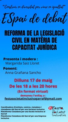 Xerrada Reforma de la Legislació Civil en matèria de capacitat jurídica