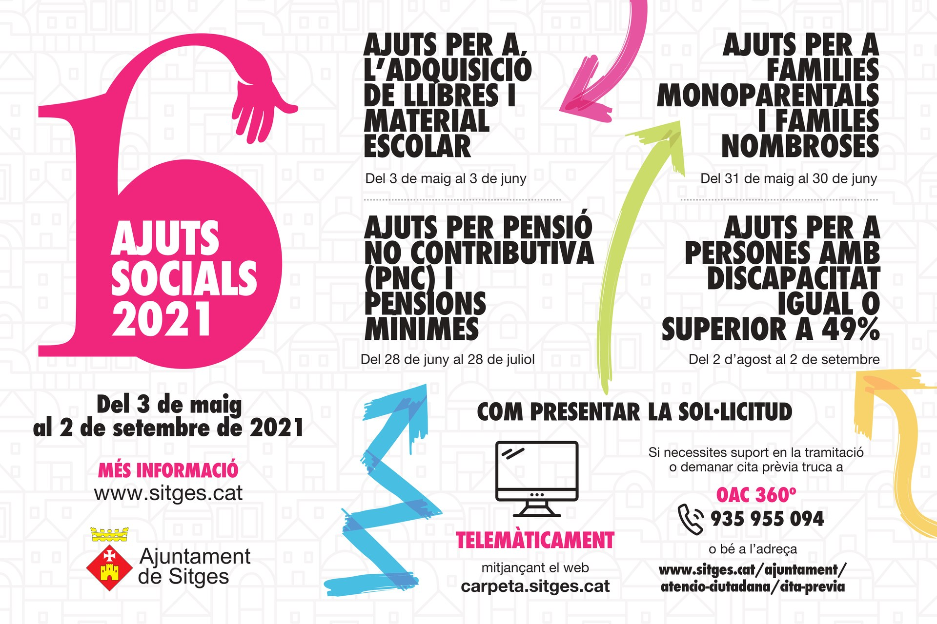 L'Ajuntament de Sitges obre el termini de sol·licituds als ajuts socials