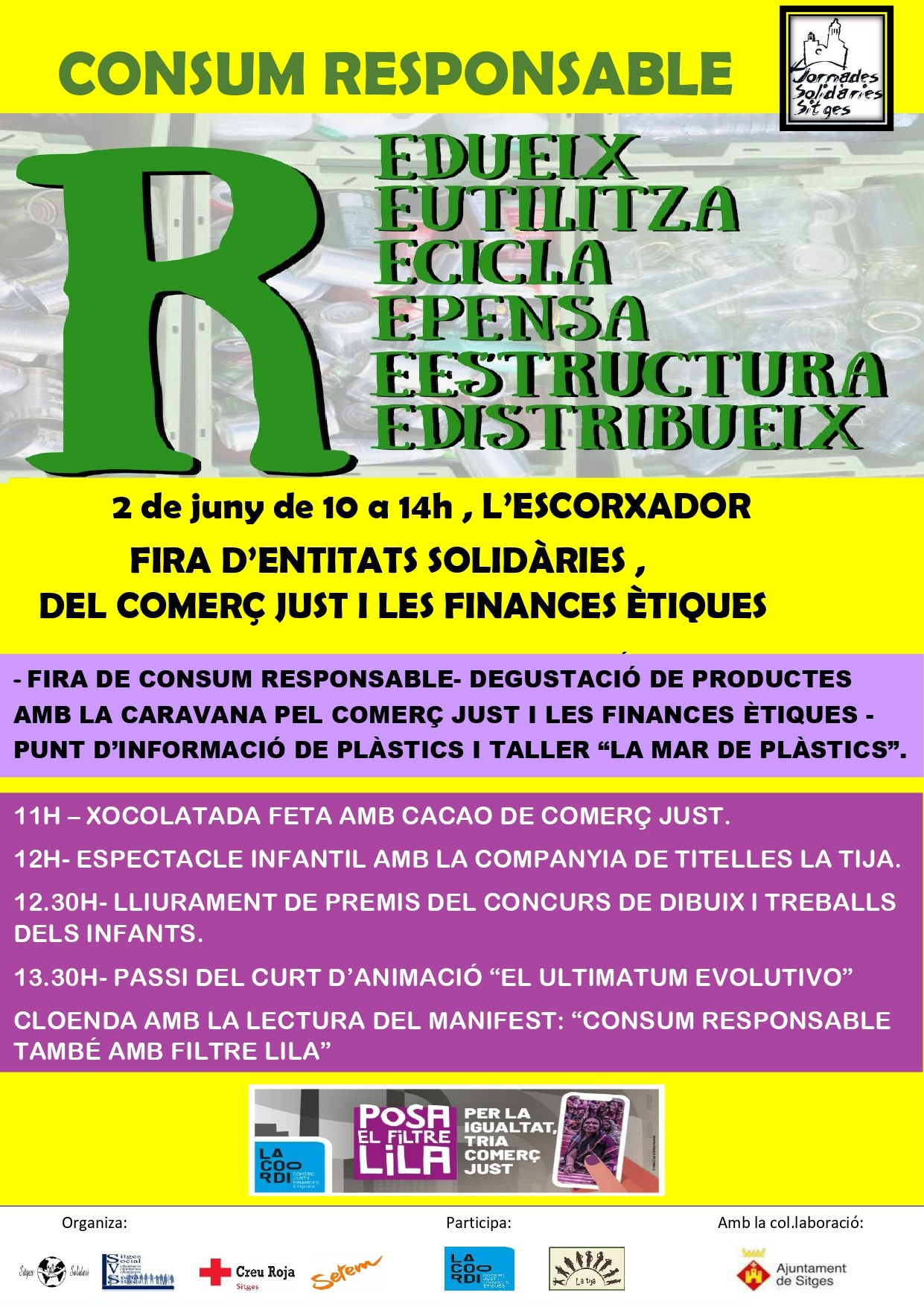 Exposició de dibuixos i treballs dels infants sobre les Jornades Solidàries/ XVIII Jornades Solidàries