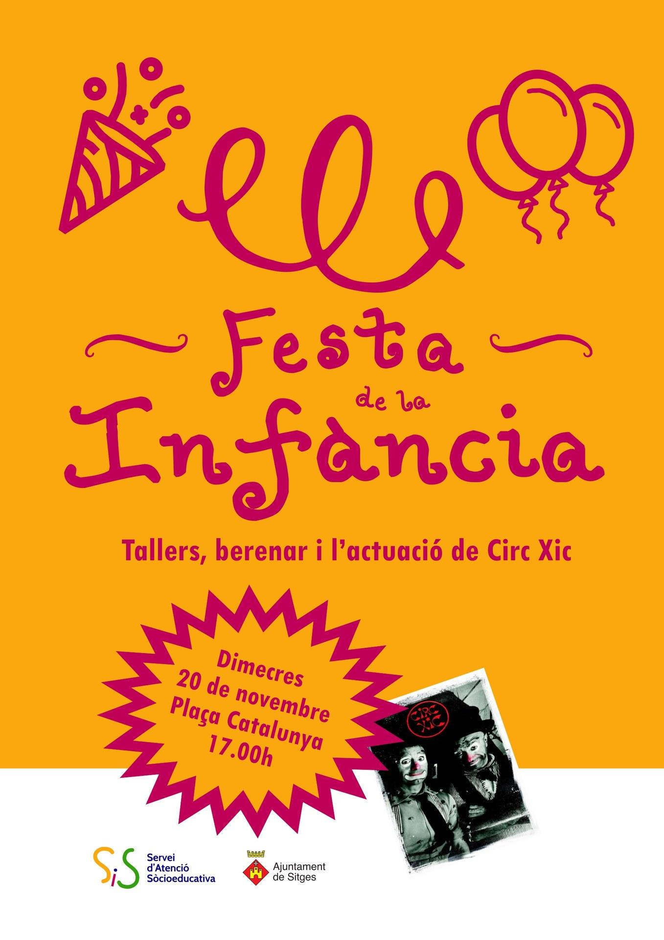 Festa de la Infància - Dimecres 20 de novembre a les 17h a Plaça Catalunya