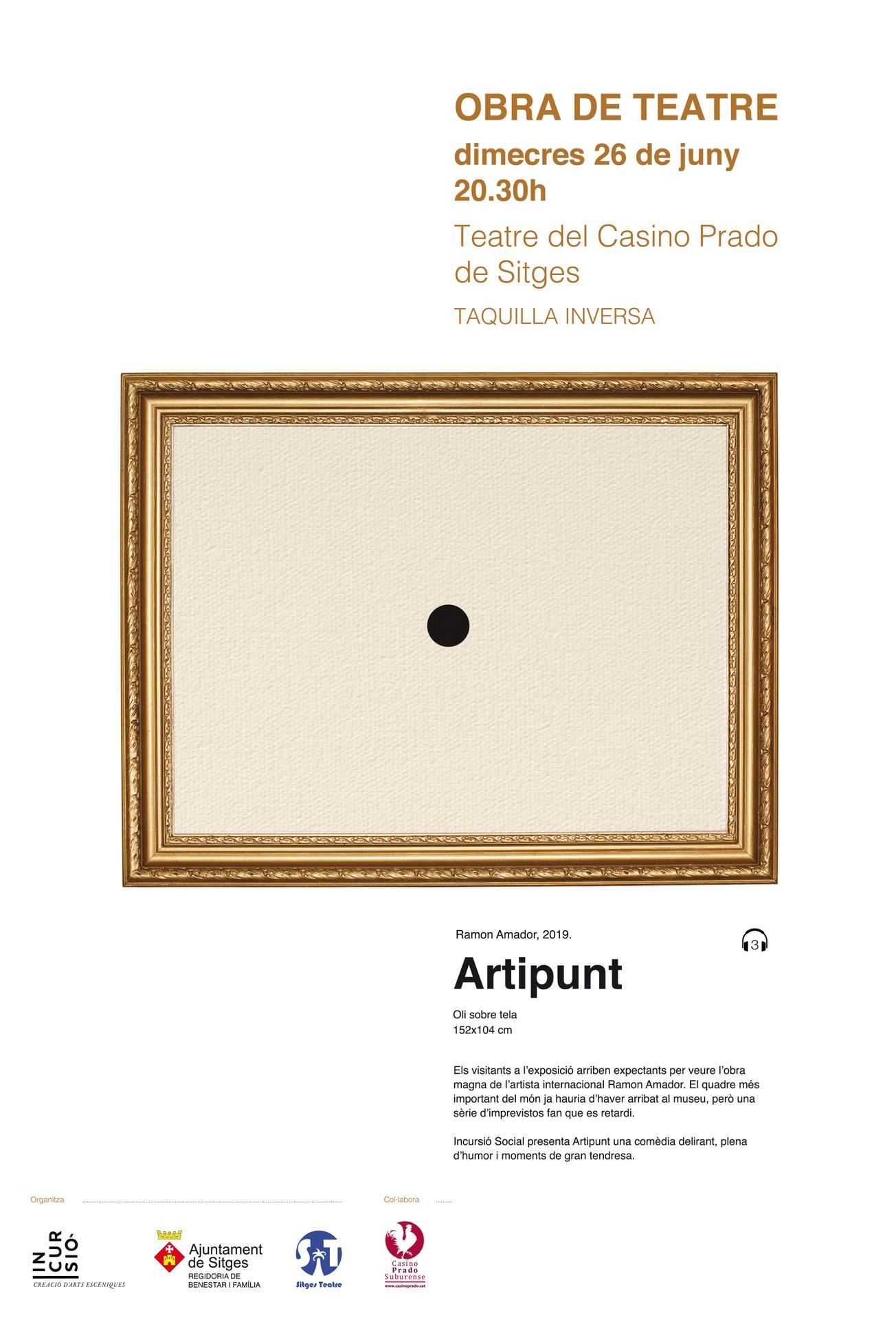 El grup de Teatre Inclusiu de Sitges estrenarà l'obra 'Artipunt ' el 26 de juny al Teatre Casino Prado