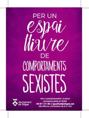 Sitges, espai lliure de comportaments sexistes