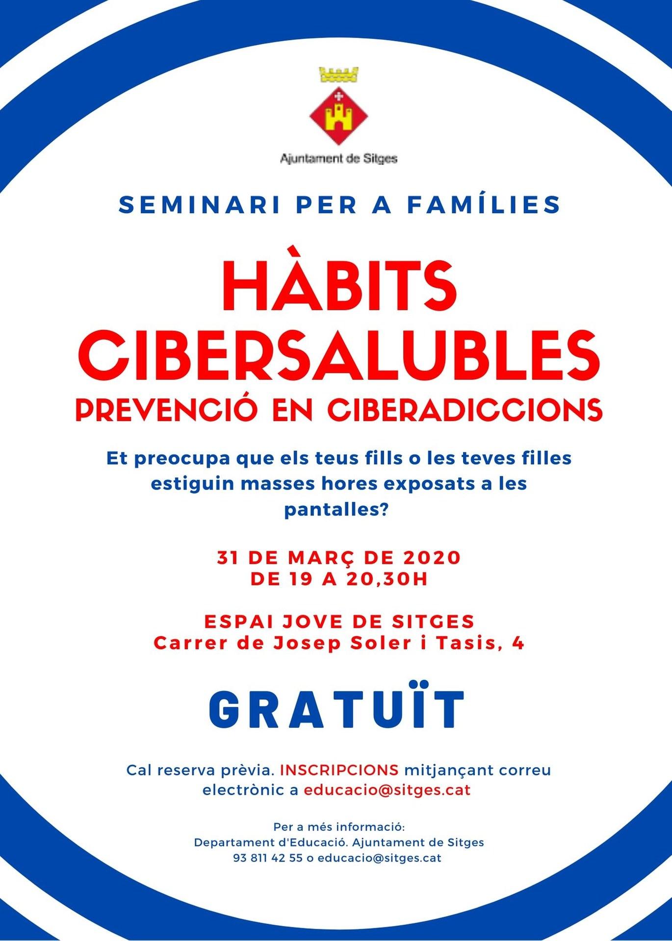 Cancel·lat. Seminari Hàbits cibersaludables