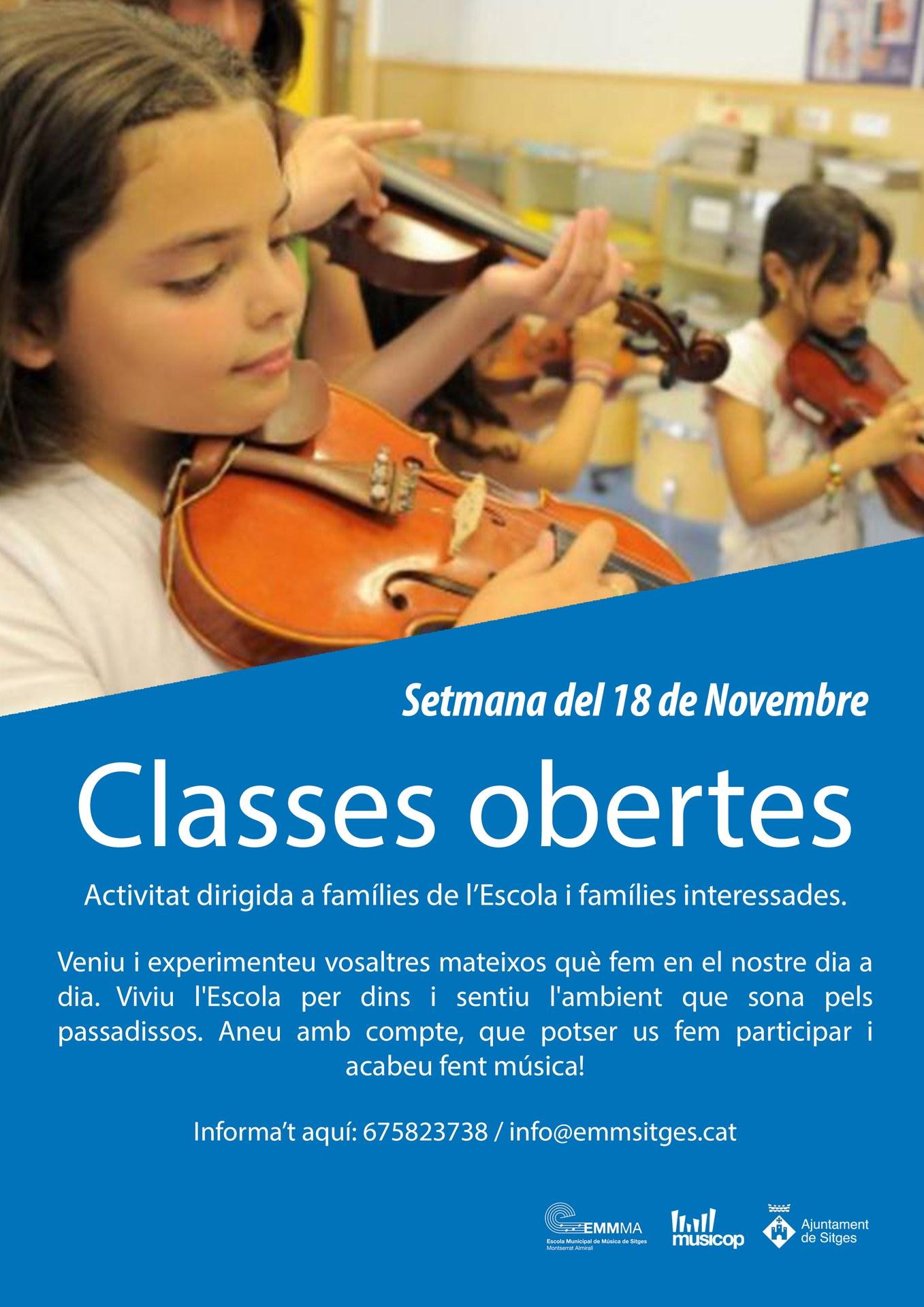 Classes obertes a l'Escola Municipal de Música de Sitges