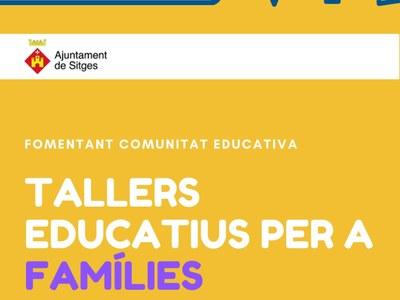 La regidoria d'Educació organitza un cicle de tallers educatius i un seminari dirigits a les famílies