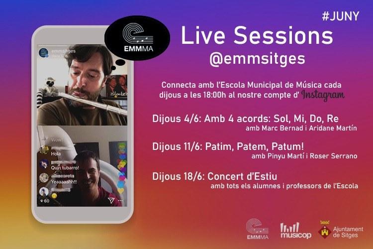 Les Live Sessions de l'Escola Municipal de Música de Sitges continuen al mes de juny