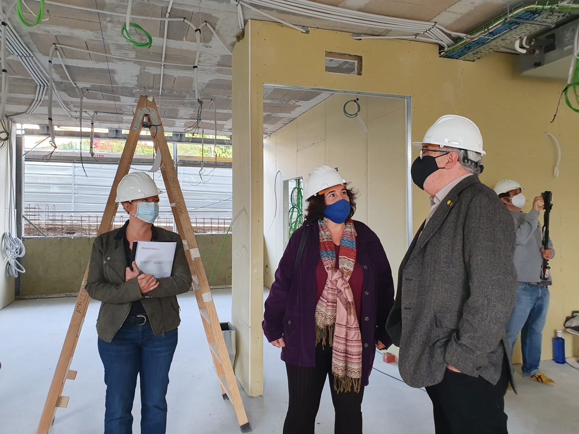 Les obres de construcció de l'escola Agnès de Sitges finalitzaran al mes de març