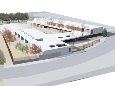 Les obres de l'Escola Agnès de Sitges comencen oficialment l'1 d'abril