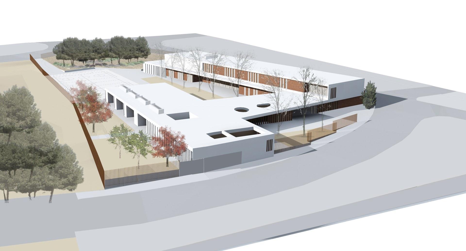 Imatge del futur edifici de l'Escola Agnès de Sitges