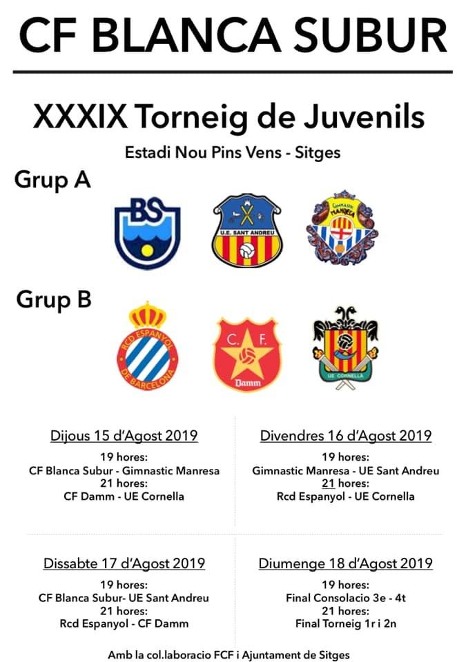 39è Torneig de Futbol de Juvenils de la CF Blanca Subur