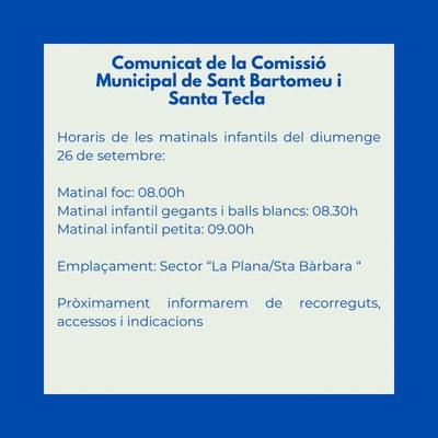 Comunicat Comissió Festa Major sobre el canvi de data de la Matinal.jpg