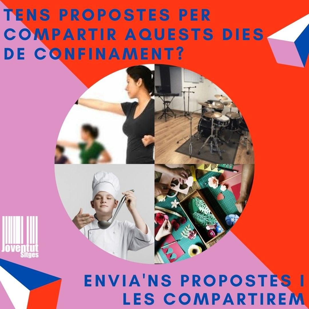 L'Espai Jove inicia una campanya col·laborativa de difusió d'activitats online per als joves