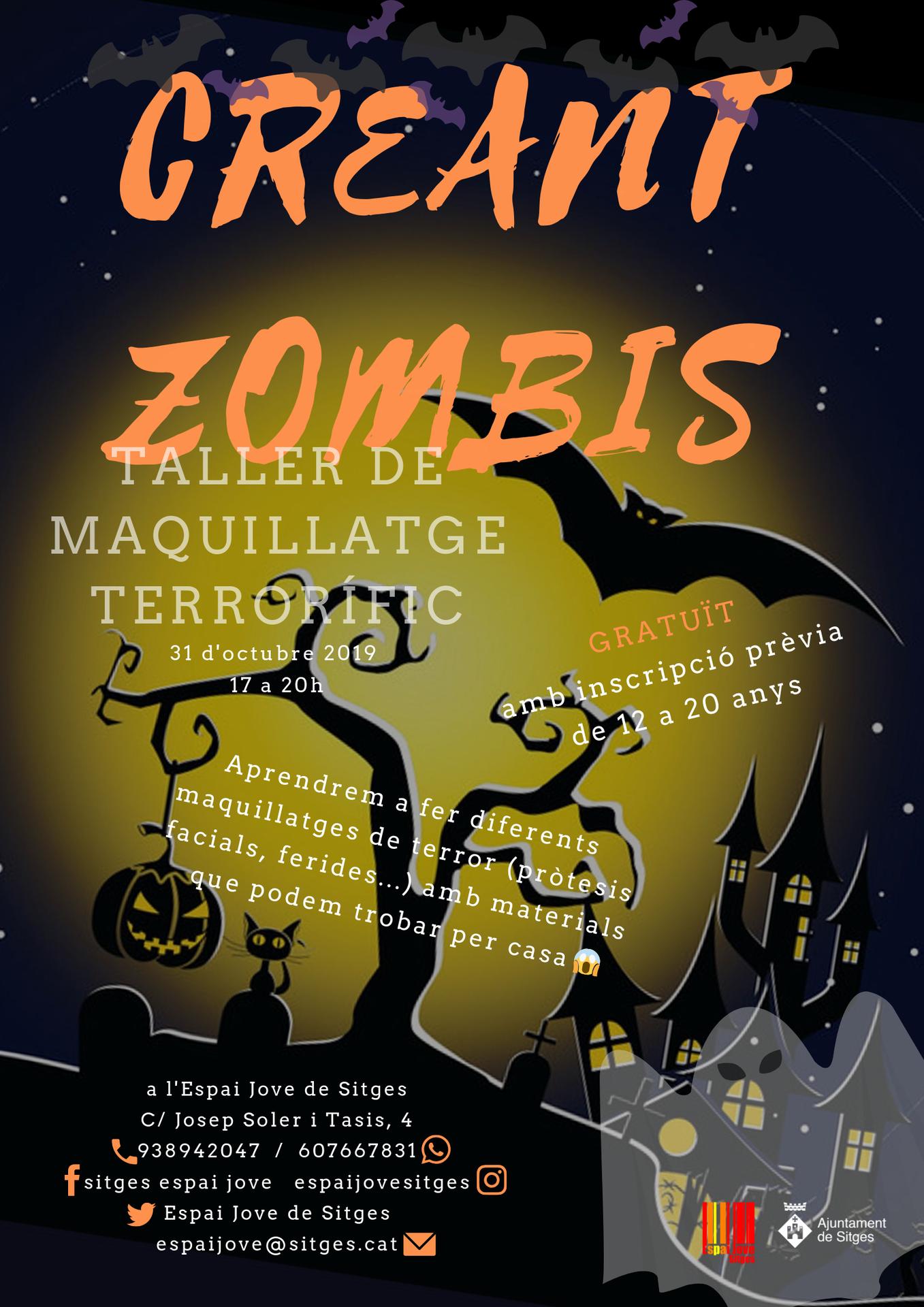 L'Espai Jove organitza el 31 d'octubre el taller de maquillatge terrorífic 'Creant Zombies' a l'Espai Jove