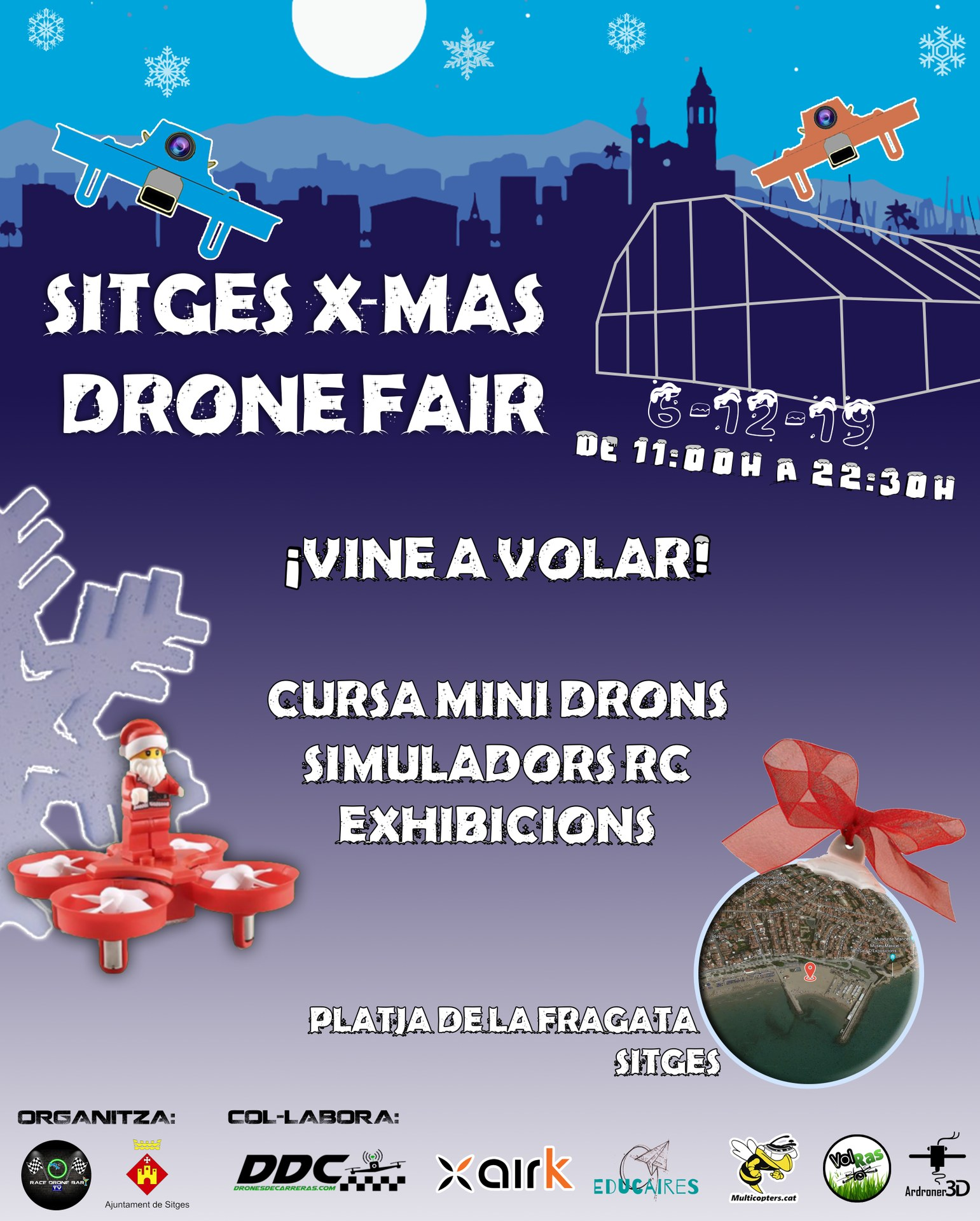Sitges X-MAS Drone Fair, Platja de La Fragata