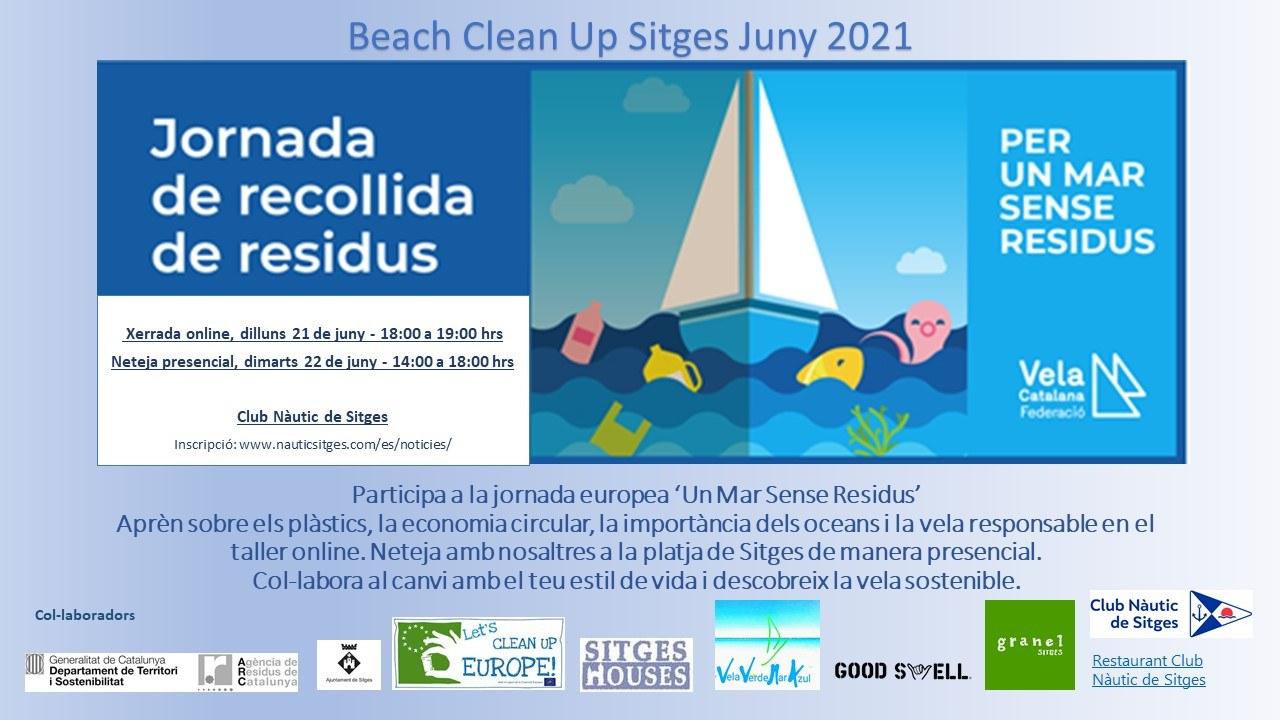 El Club Nàutic de Sitges lidera una jornada de recollida de residus a les platges