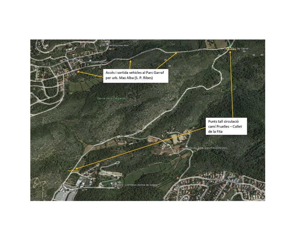 Se inician  los trabajos de mejora de un camino de acceso al Parque del Garraf