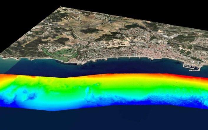 Cartografia dels fons marins de Sitges