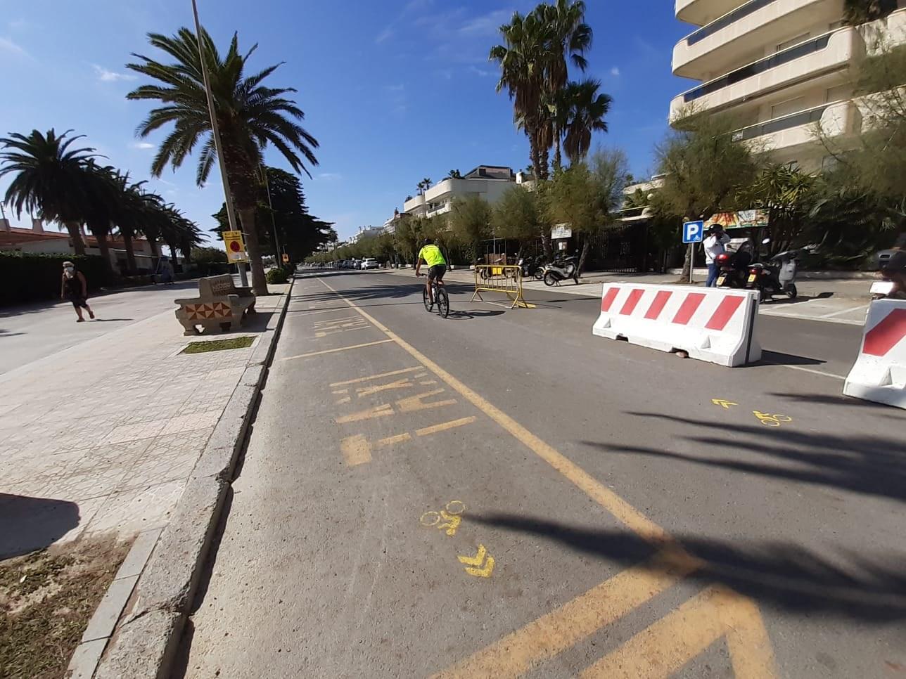 Estat actual del carril bici provisional