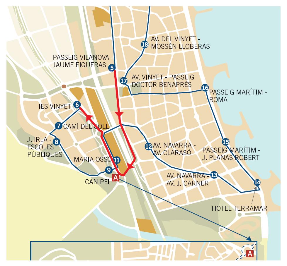 Sitges recupera els busos híbrids  per a totes les línies del transport urbà