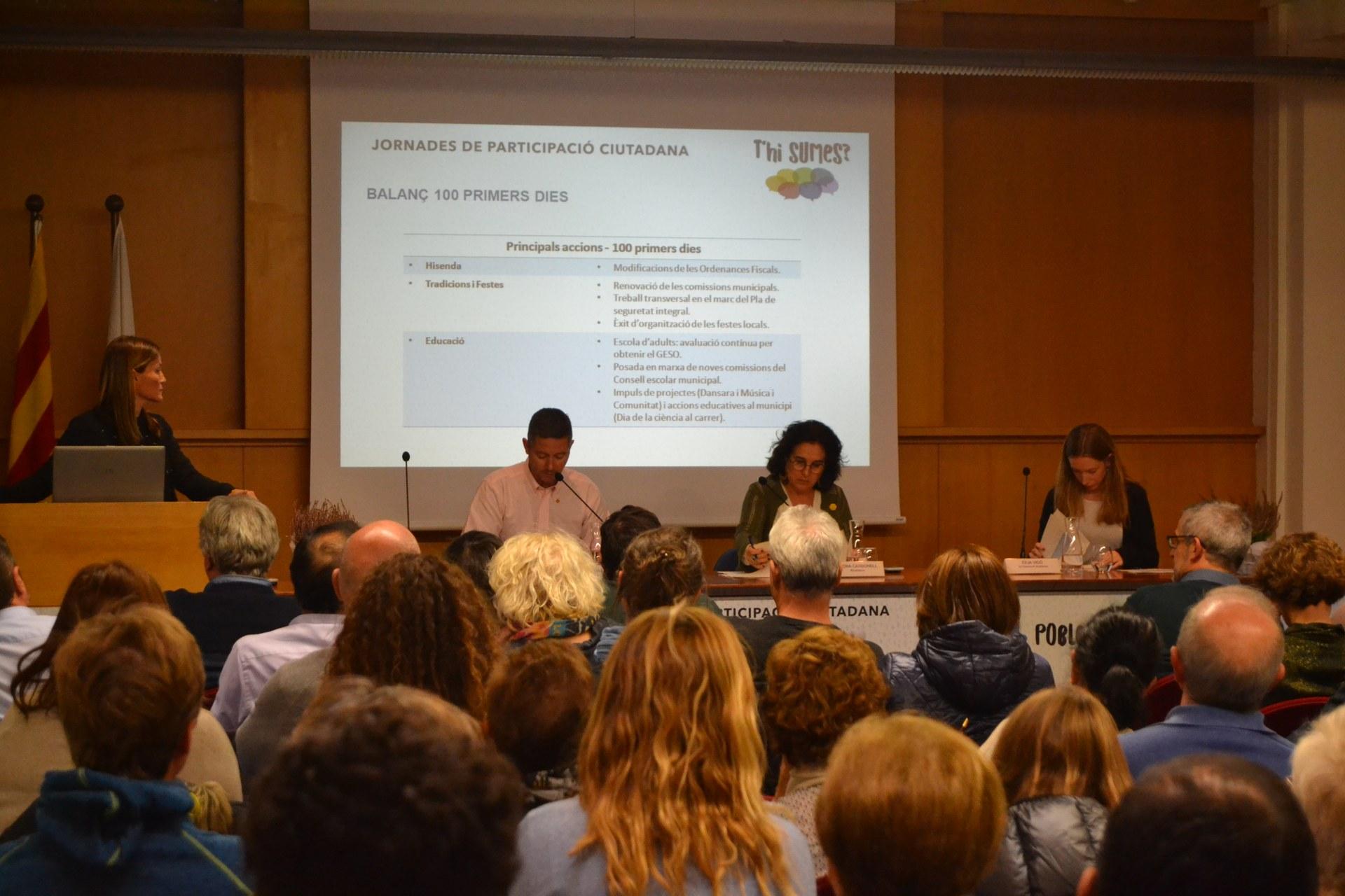 El Govern Municipal presenta propostes de futur i fa balanç dels primers mesos