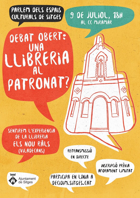 El procés participatiu sobre els espais culturals es reactiva el 9 de juliol per plantejar el debat obert: 'Una llibreria al Patronat?'