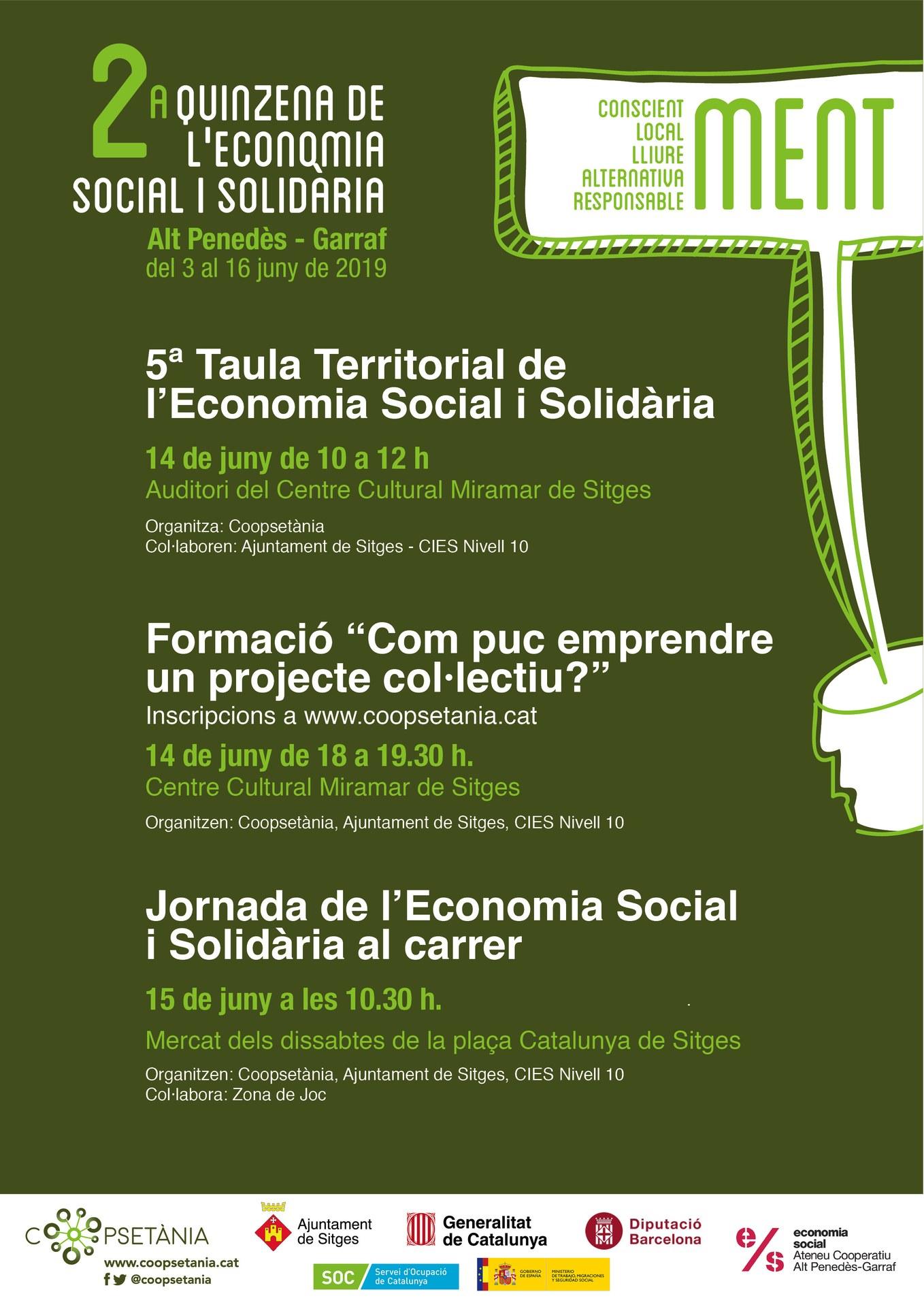 5a Taula Territorial de l'Economia Social i Solidària de l'Alt Penedès i el Garraf / 2a Quinzena d'Economia Social i Solidària