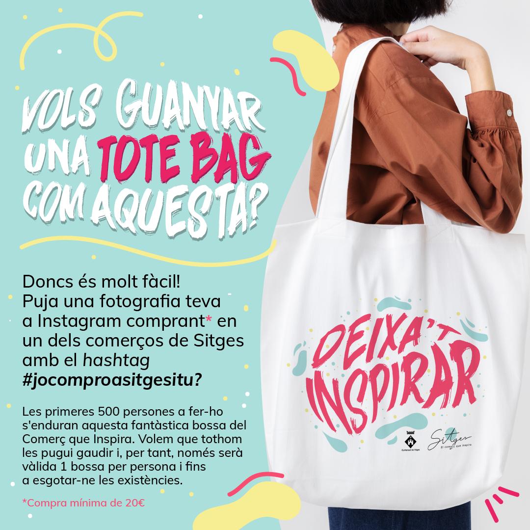 El concurs a Instagram per fomentar el comerç de proximitat obsequia els participants amb una bossa sostenible