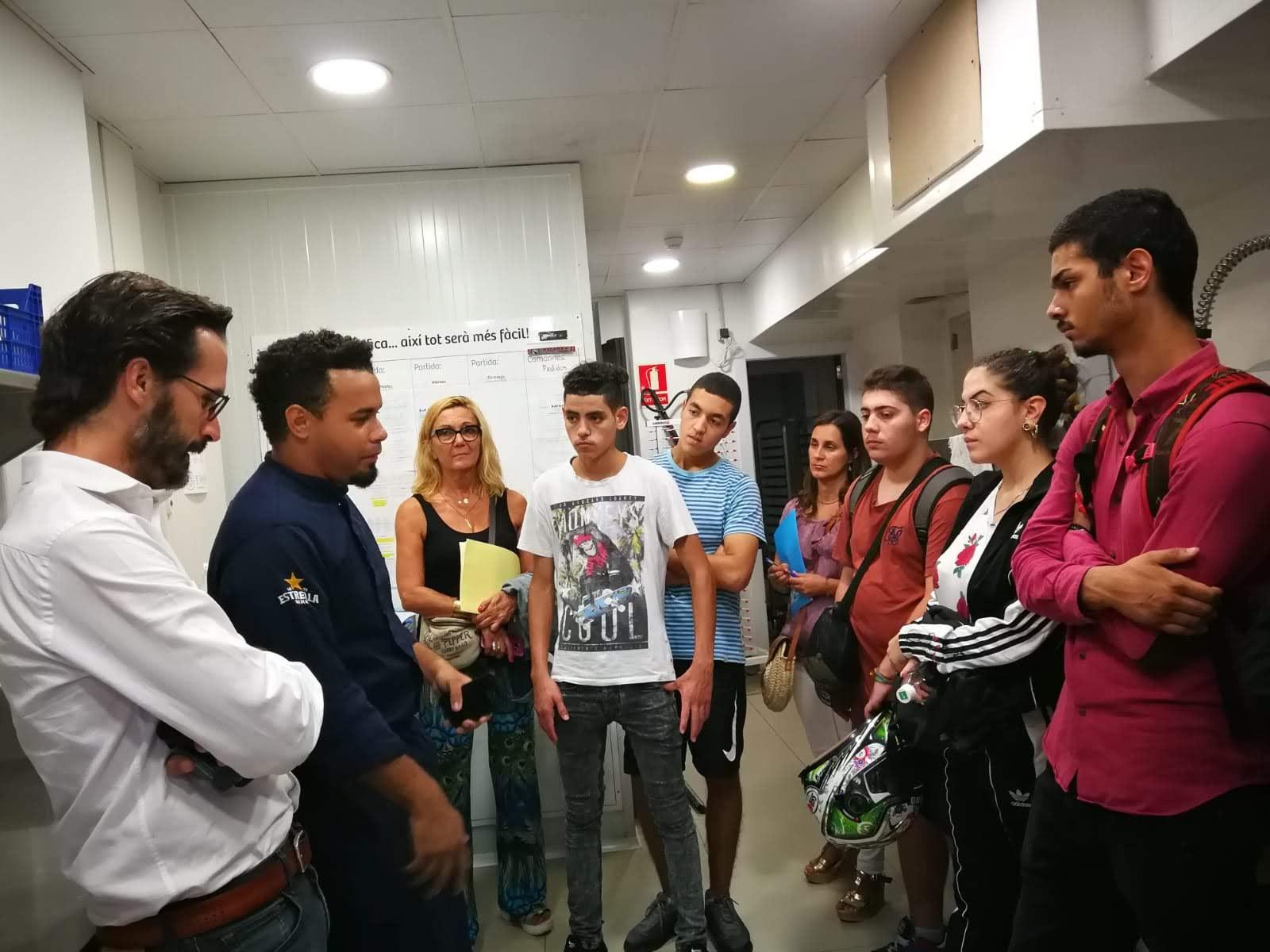 Participants del programa Garraf Singular de Sitges visiten les  instal·lacions de l´Hotel MIM de Sitges