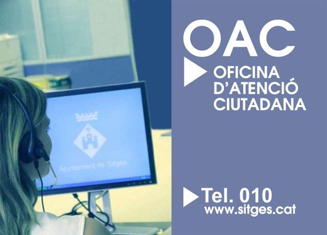 OAC - Oficina d'Atenció Ciutadana. Telèfon 010